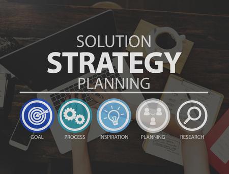 Oplossing Strategische Business Success Target Concept