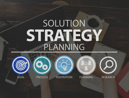 Solution Strategy Planning Business Success Target Concept