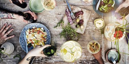 Partia posiłek jedzenie napoje pić Concept