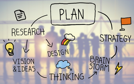 thinking: Plan Strategy Brainstorming Thinking Creativity Success Concept