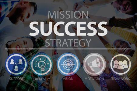 metas: Crecimiento Éxito Logro Logro objetivo concepto