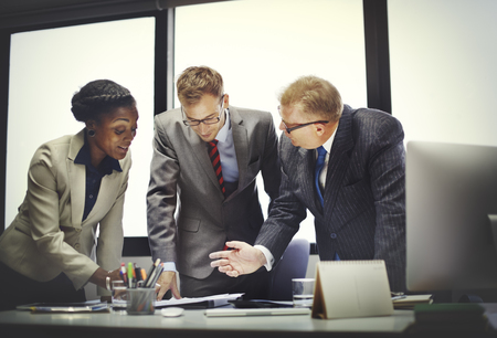 diversidad: Equipo de negocios Reuni�n de Discusi�n Concepto Conexi�n