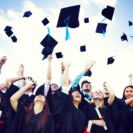 mortar: Casquillos de la graduaci�n de la felicidad Lanzado �xito cocnept