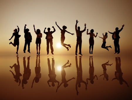 Group of Business People Celebrating Cheerful Concept