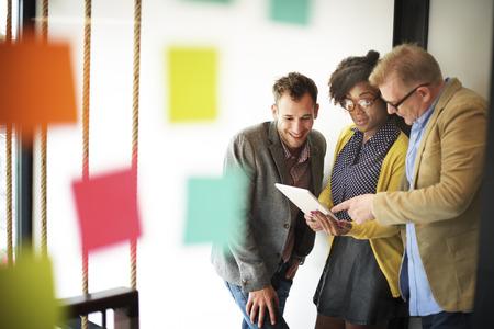 tableta: Obchodní tým Setkání Diskuse Přestávka Concept