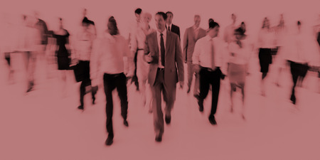 organised group: Large Group of Business People Walking