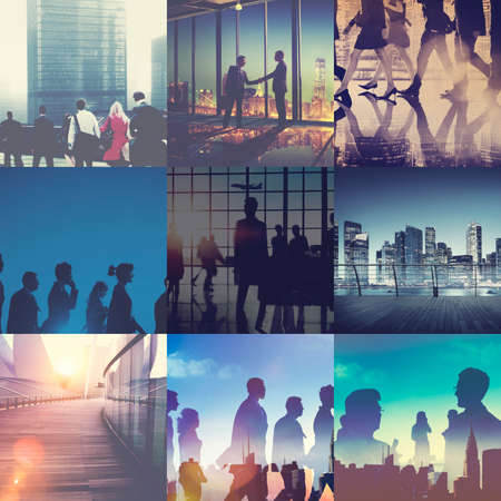 Business People Passenger Working City Life Concept