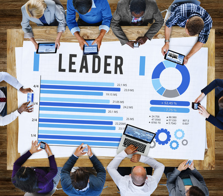 trainer device: Leader Leadership Authority Coach Concept Stock Photo