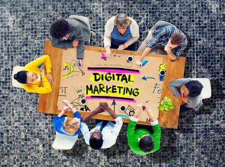 seach: Digital Marketing Branding Strategy Online Media Concept Stock Photo