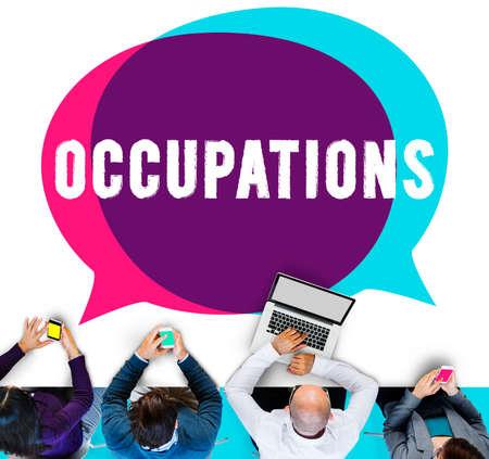 recruiting: Occupation Job Career Employment Hiring Recruiting Concept