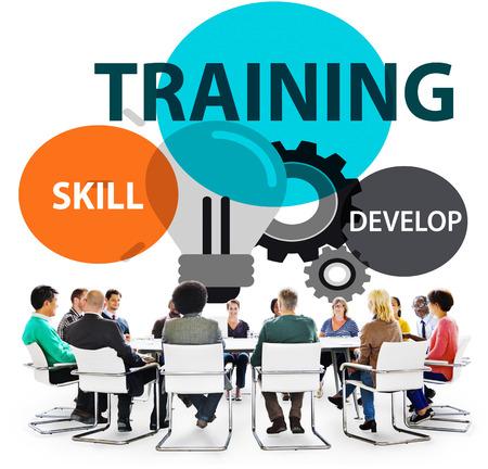 Träning Skill Utveckla Förmåga Expertis Koncept