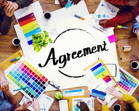 partnership strategy: Agreement Partnership Strategy Achievement Connection Concept Stock Photo