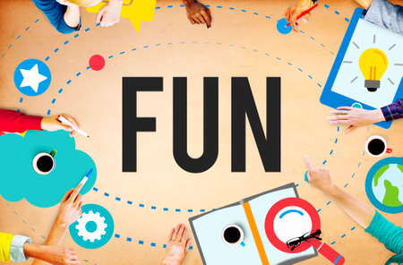 recreation: Fun Cheerful Happiness Recreation Activity Concept