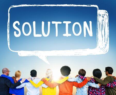 problem solution: Solution Solving Problem Resolve Strategy Concept