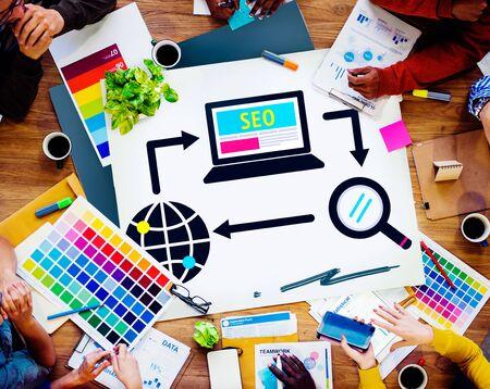 SEO Search Engine Optimization Digital Computer Internet Concept