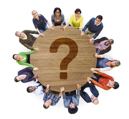 Vraagteken FAQ Antwoord Informatie Suggestie Help Feedback Concept
