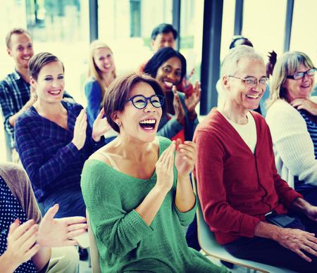 Groep Mensen Publiek Seminar Plezier Concept