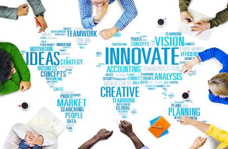aspirations ideas: Innovation Inspiration Creativity Ideas Progress Innovate Concept Stock Photo