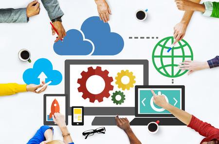 Cloud Data Storage Database Online Technology Concept