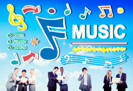 the song: Music Notes Song Entertainment Media Concept