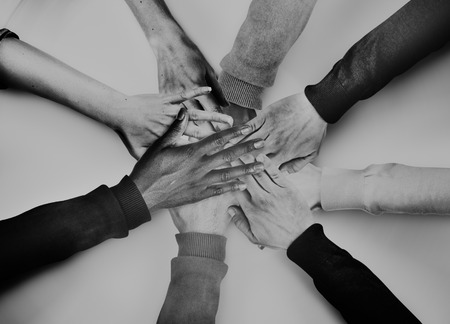 diverse hands: Group of Diverse Hands Together Joining Concept