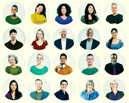 variation: Diverse People Multi Ethnic Variation Casual Concept