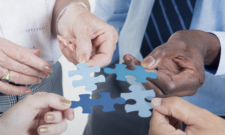 join the team: Business Connection Corporate Team Jigsaw Puzzle Concept