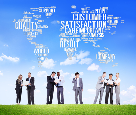 Customer Satisfaction Reliability Quality Service Concept 版權商用圖片