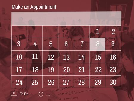 time sharing: Calender Make Appointment Organization Management Concept