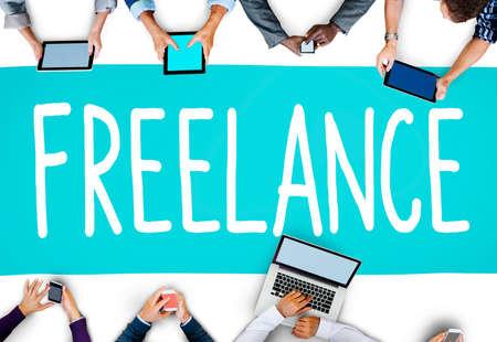 freelance: Freelance Part time Outsources Job Employment Concept