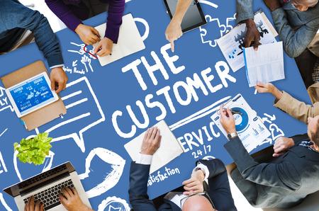 Customer Service Support Solution Assistance-Hilfe-Konzept
