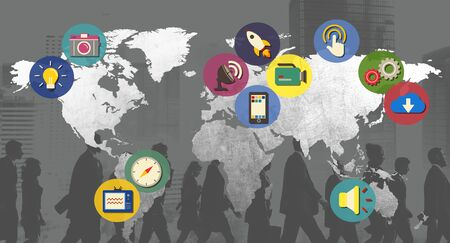 cartography: International Global Connect Globaliztion Cartography Concept
