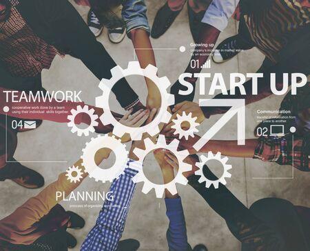 Cooperative Growing Up Increase Skills Teamwork Concept 版權商用圖片