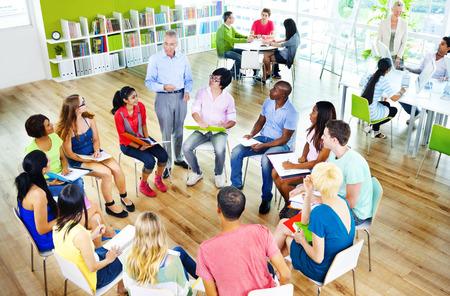 College Students Learning Education University Teaching Concept Foto de archivo