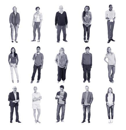 diversidad: Gente Diversos Felicidad Amistad Gente Alegre Foto de archivo