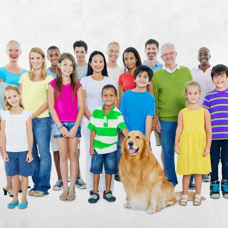Las personas Comunidad Diversidad concepto de la muchedumbre