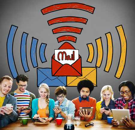 inbox: Email Message Inbox Letter Communication Concept Stock Photo