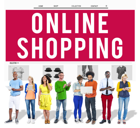 web shopping: Online Shopping Purchasing Commercial Electronic Concept Stock Photo