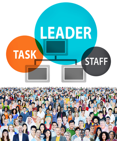 People with leadership concept Stock Photo