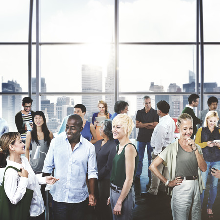 urban scene: Community Business People Communication Connection Concept Stock Photo