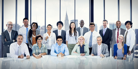 business administration: Business People Meeting Corporate Connection Teamwork Concept Stock Photo