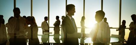 Business People Meeting Discussion Corporate Handshake Concept Banco de Imagens