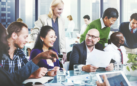 crowd of people: Business People Team Teamwork Cooperation Partnership Concept Stock Photo