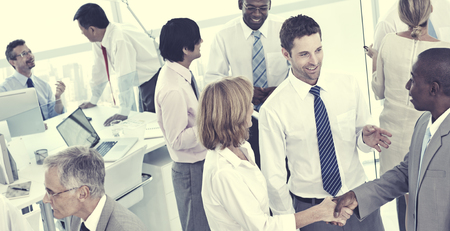 social grace: Group of Business People Meeting Discussion Concept Stock Photo