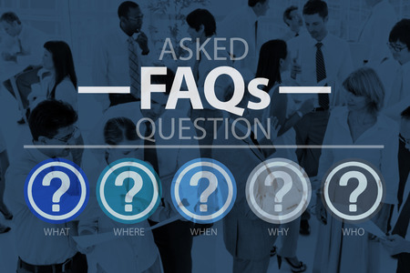 frequently: Frequently Asked Questions Asking Reply Response Concept Stock Photo