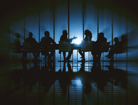 back lit: Business People Meeting Discussion Back Lit Concept Stock Photo