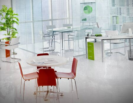working area: Green Office Meeting Room Working Area Business Concept