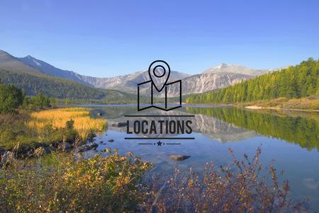 locations: Locations Traveling Destination Navigation Vacation Concept