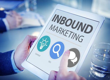 trabajo social: Inbound Comercio Content Marketing Social Medios Concept