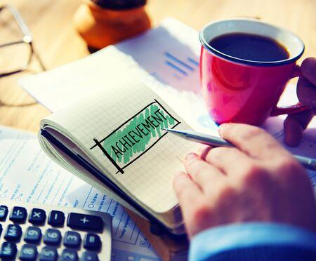 Achievement Goal Target Success Accomplishment Concept Stock Photo